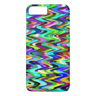 Capa iPhone 8 Plus/7 Plus Teste padrão de mosaico multicolorido abstrato