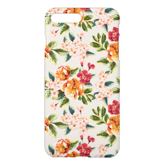 Capa iPhone 8 Plus/ 7 Plus Teste padrão floral da aguarela do Victorian do
