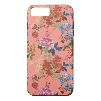 Capa iPhone 8 Plus/7 Plus Teste padrão floral de chintz do vintage no fundo