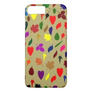 Capa iPhone 8 Plus/7 Plus Teste padrão multicolorido bonito da folha floral