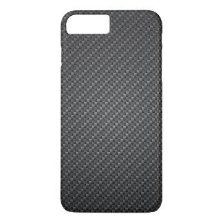 Capa iPhone 8 Plus/7 Plus Textura clássica da fibra da grafite