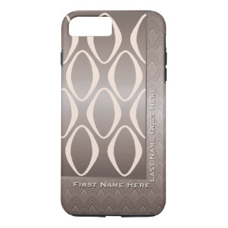 Capa iPhone 8 Plus/7 Plus Tribal retro no Taupe e na amêndoa -