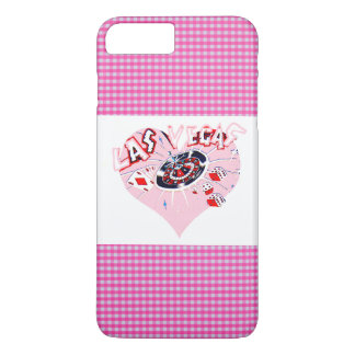 Capa iPhone 8 Plus/7 Plus Verificação Las Vegas do rosa e do branco