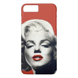 Capa iPhone 8 Plus/7 Plus Vermelho nos lábios vermelhos Marilyn