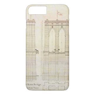 Capa iPhone 8 Plus/7 Plus Vintage do modelo da arquitetura da ponte de