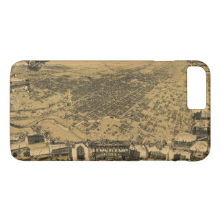 Capa iPhone 8 Plus/7 Plus Vista aérea de Stockton, Califórnia (1895)