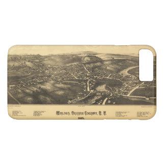 Capa iPhone 8 Plus/7 Plus Vista aérea do Condado de Orange New York 1887 de