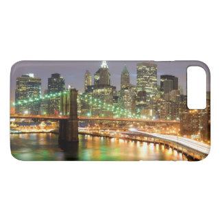 Capa iPhone 8 Plus/7 Plus Vista do Lower Manhattan e da ponte de Brooklyn