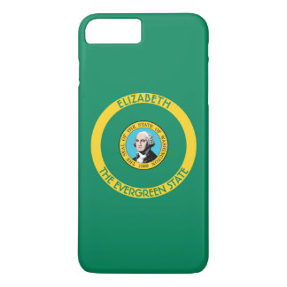 Capa iPhone 8 Plus/7 Plus Washington estado verde a bandeira personalizada