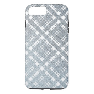 Capa iPhone 8 Plus/7 Plus Xadrez Ombre metálico das cinzas azuis