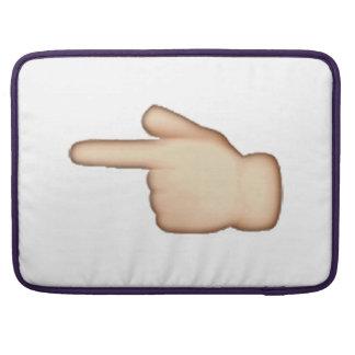 Capa MacBook Pro Emoji - índice apontando esquerdo branco dos revés