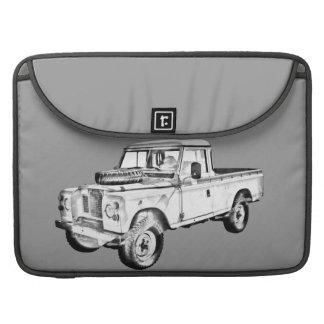 Capa MacBook Pro Land Rover 1971 pegara a ilustração do caminhão