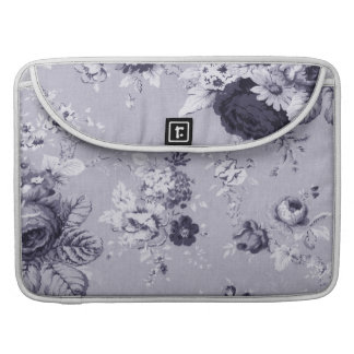 Capa MacBook Pro Vintage roxo azul Toile floral No.4 do Mulberry