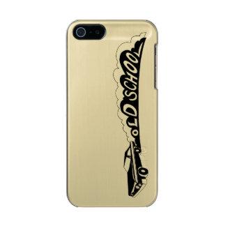 Capa Metálica Para iPhone SE/5/5s Velha escola Camaro - ouro/capa de telefone