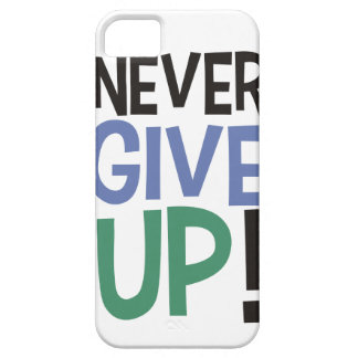 Capa Never Give Up! Capa iPhone 5