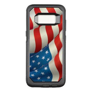 Capa OtterBox Commuter Para Samsung Galaxy S8 Bandeira de ondulação patriótica dos E.U.