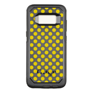 Capa OtterBox Commuter Para Samsung Galaxy S8 Bolinhas amarelas