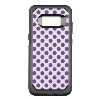 Capa OtterBox Commuter Para Samsung Galaxy S8 Bolinhas roxas