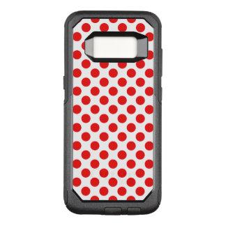 Capa OtterBox Commuter Para Samsung Galaxy S8 Bolinhas vermelhas