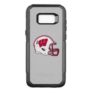 Capa OtterBox Commuter Para Samsung Galaxy S8+ Capacete de futebol de Wisconsin |