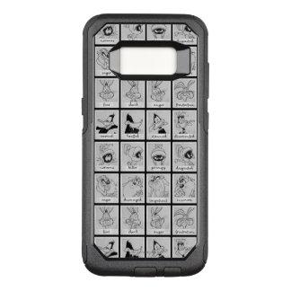 Capa OtterBox Commuter Para Samsung Galaxy S8 Carta LOONEY da emoção do caráter de TUNES™