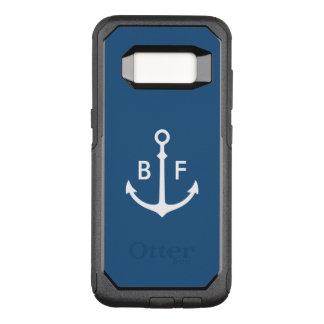 Capa OtterBox Commuter Para Samsung Galaxy S8 Caso náutico do monograma