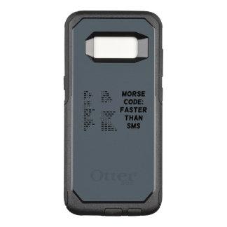 Capa OtterBox Commuter Para Samsung Galaxy S8 Código Morse: Mais rapidamente do que o