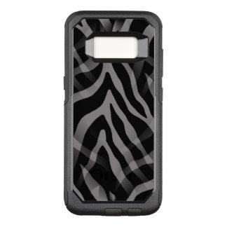 Capa OtterBox Commuter Para Samsung Galaxy S8 Listras cinzentas neutras Snazzy da zebra