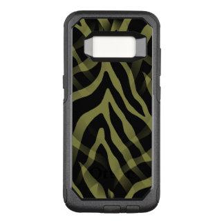 Capa OtterBox Commuter Para Samsung Galaxy S8 Listras Snazzy da zebra da verde azeitona