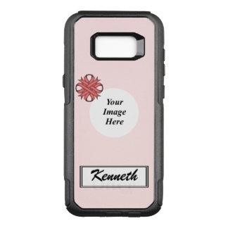 Capa OtterBox Commuter Para Samsung Galaxy S8+ Modelo cor-de-rosa da fita do trevo por Kenneth