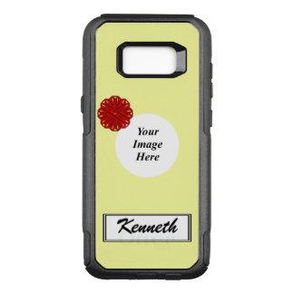 Capa OtterBox Commuter Para Samsung Galaxy S8+ Modelo da fita da flor de Borgonha por Kenneth
