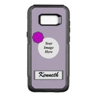 Capa OtterBox Commuter Para Samsung Galaxy S8+ Modelo roxo da fita da flor por Kenneth Yoncich