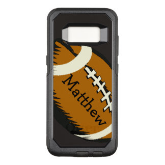 Capa OtterBox Commuter Para Samsung Galaxy S8 O futebol de Brown ostenta a caixa da galáxia S8