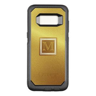 Capa OtterBox Commuter Para Samsung Galaxy S8 Ouro escovado luxo com monograma