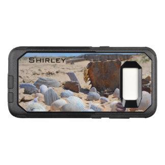 Capa OtterBox Commuter Para Samsung Galaxy S8 Seashells na praia por Shirley Taylor