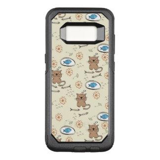 Capa OtterBox Commuter Para Samsung Galaxy S8 teste padrão do gato e dos peixes