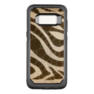 Capa OtterBox Commuter Para Samsung Galaxy S8 Zebra do creme e do açúcar