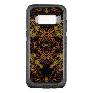 Capa OtterBox Commuter Para Samsung Galaxy S8 Zebra lustrosa do amarelo alaranjado