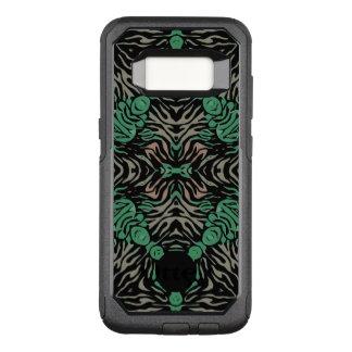 Capa OtterBox Commuter Para Samsung Galaxy S8 Zebra preta verde