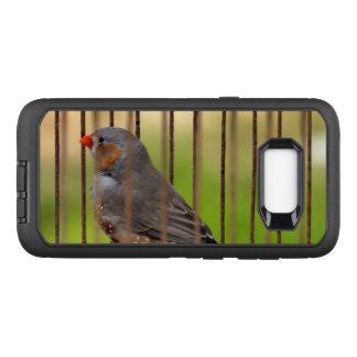 Capa OtterBox Defender Para Samsung Galaxy S8+ Pássaro do passarinho de zebra na gaiola