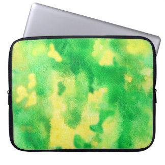 """Capa Para Computador A bolsa de laptop 15"""" do verde amarelo"""