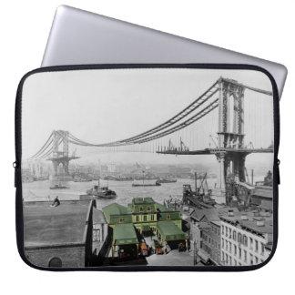 Capa Para Computador A bolsa de laptop da ponte de Manhattan