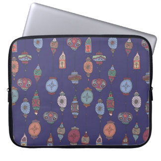Capa Para Computador A bolsa de laptop marroquina mágica do roxo das