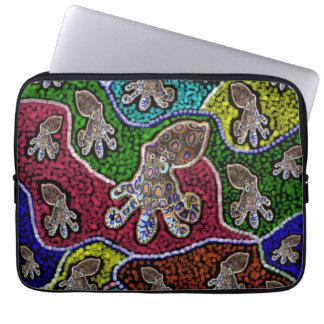 Capa Para Computador A bolsa de laptop rodeado azul australiana do