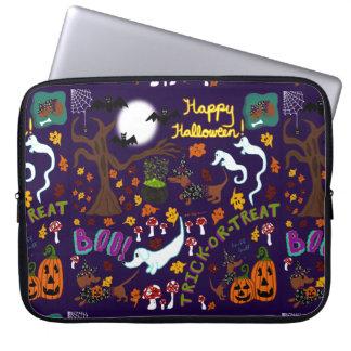 Capa Para Computador O Dia das Bruxas do Dachshund da diva