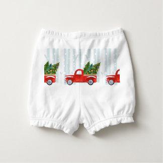Capa Para Fralda Camionete vermelho do Natal em uma estrada nevado