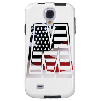 Capa Para Galaxy S4 Bandeira patriótica dos EUA da inicial do