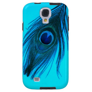 Capa Para Galaxy S4 Pena azul escuro do pavão