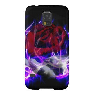 Capa Para Galaxy S5 Chama violeta cor-de-rosa e mão dos deuses