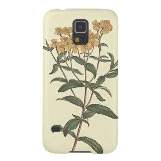 Capa Para Galaxy S5 Ilustração botânica do cravo-de-defunto do